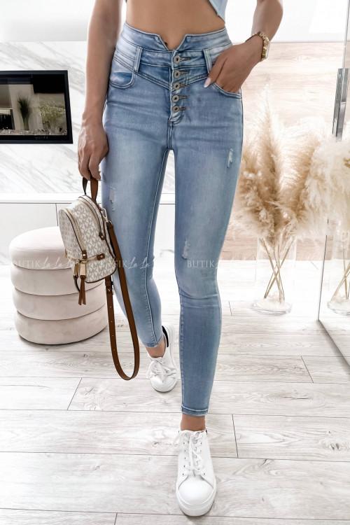 spodnie jeans z guzikami Arcelia