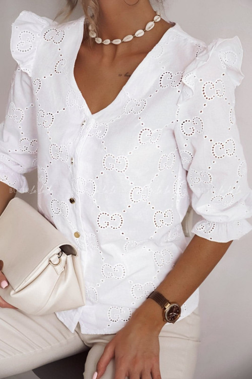 bluzka biała ażurowa Kasandra