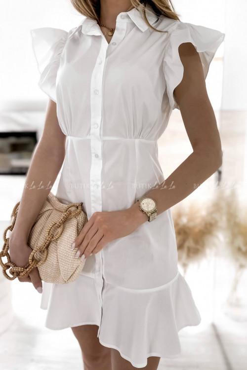sukienka biała Narosti