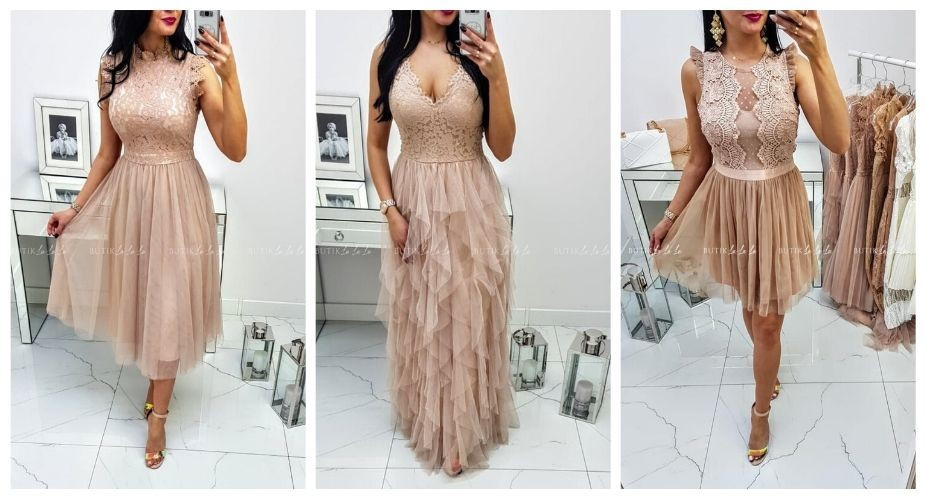 sukienki na wesele koronkowe mini midi maxi
